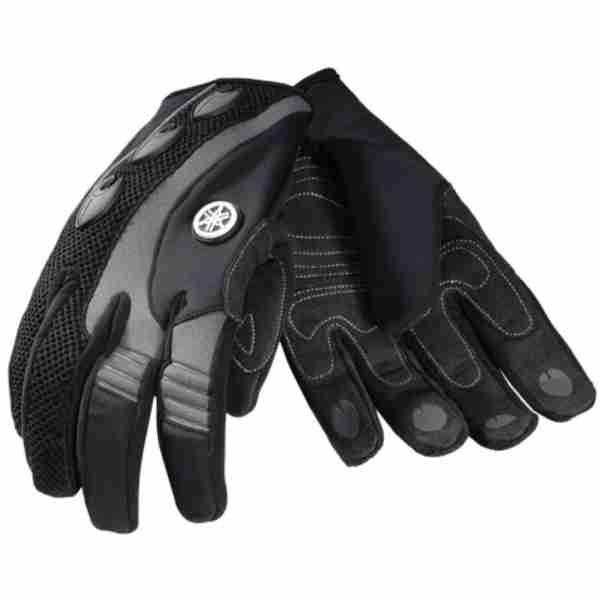 OEM Yamaha Full Finger Watercraft Riding Gloves Grey/Black