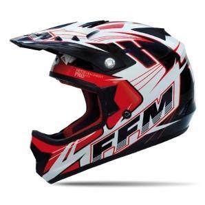 FFM Motopro 3 BLACK/RED/WHITE JNR SZ Helmet