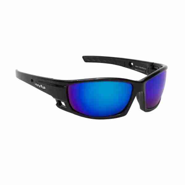 Ugly Fish Eyewear Matt Black/Silver Mirror/Blue Mirror