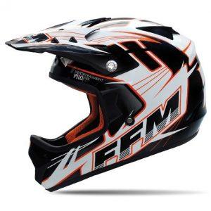 FFM Motopro 3 Fragment Black/Orange/White Helmet
