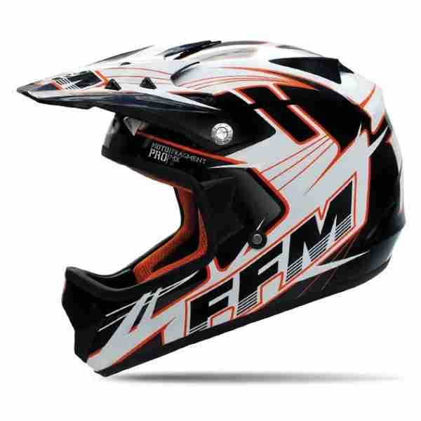 FFM Motopro 3 Fragment Black/Orange/White Helmet
