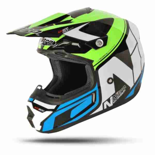 Nitro MX-600 Holeshot Black/Green/Blue