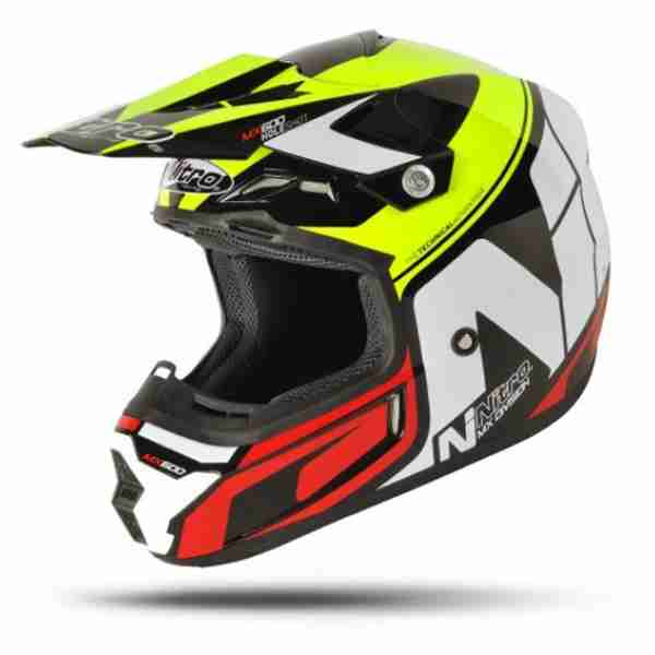 Nitro MX-600 Holeshot Black/Yellow/Red Helmet