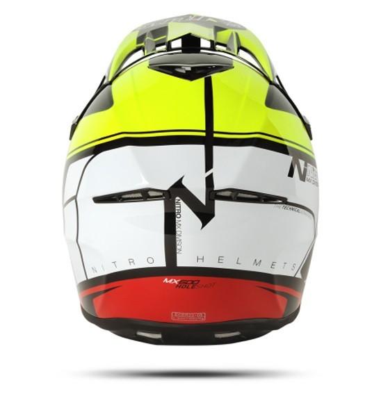 Nitro MX-600 Holeshot Black/Yellow/Red Helmet
