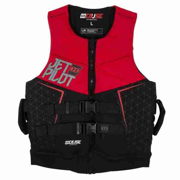 Jet Pilot The Cause L50 F/E Neo Vest with Handles - Red