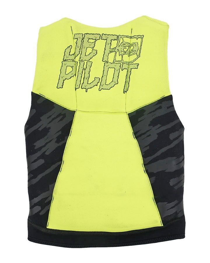 Jet Pilot The Cause F/E KIDS Neoprene Vest - Yellow/BLACK