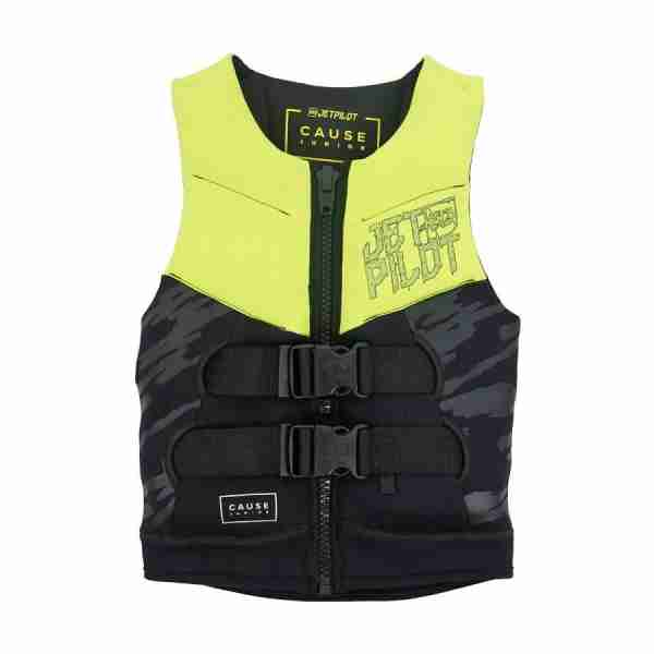 Jet Pilot The Cause F/E KIDS Neoprene Vest - Yellow/BLACK