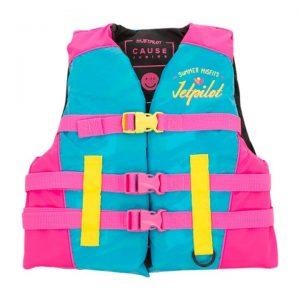 Jet Pilot The Cause F/E KIDS Nylon Vest - Blue/Pink