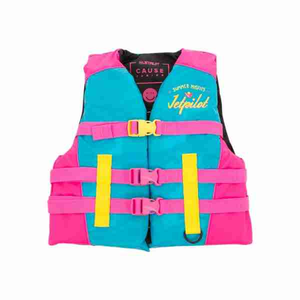 Jet Pilot The Cause F/E KIDS Nylon Vest - Blue/Pink