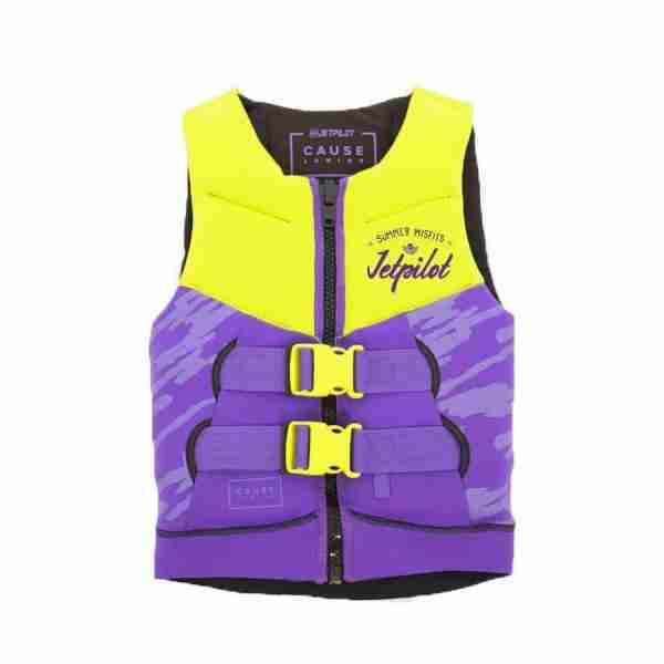 Jet Pilot The Cause F/E KIDS Neoprene Vest - Yellow/Purple