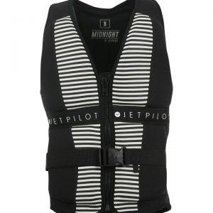 Jet Pilot Midnight Seg Ladies Neo Vest - Black/White