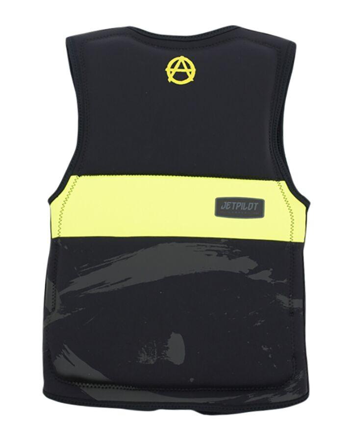Jet Pilot Prime Seg F/E Youth Neoprene Vest - Black/Yellow