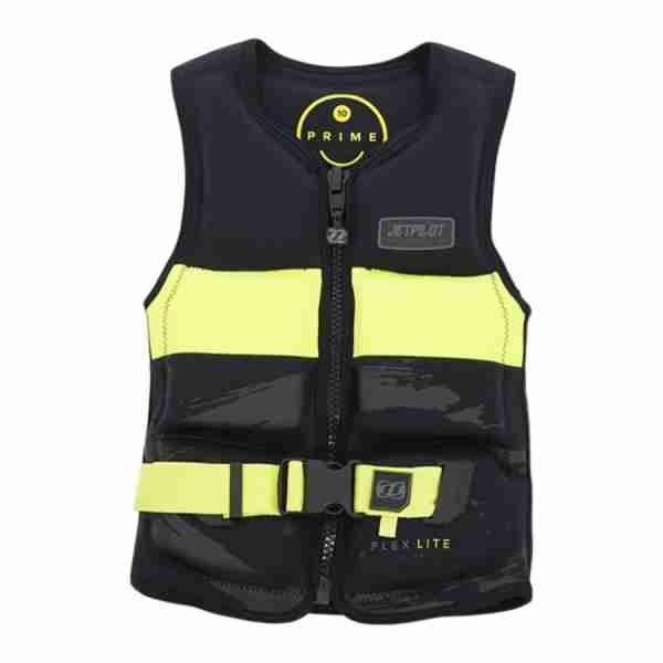 Jet Pilot Prime Seg F/E Youth Neoprene Vest - Black/Yellow
