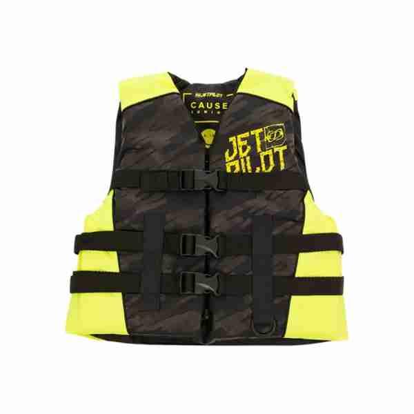 Jet Pilot The Cause F/E KIDS Nylon Vest - Black/Yellow