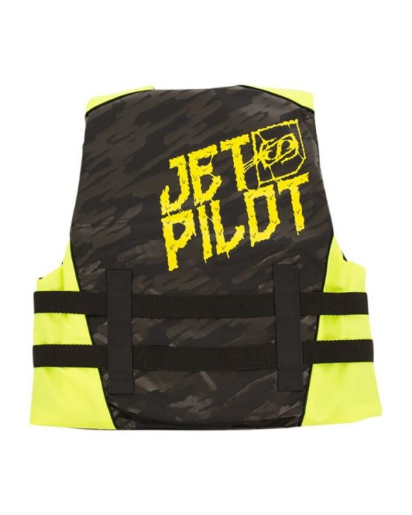 Jet Pilot The Cause F/E KIDS Nylon Vest - Black/Yellow